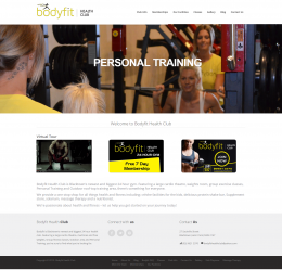 BodyFit health club website